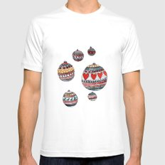Baubles Mens Fitted Tee MEDIUM White