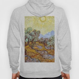 1889-Vincent van Gogh-Olive Trees with yellow sky and sun-73,66x92,71 Hoody