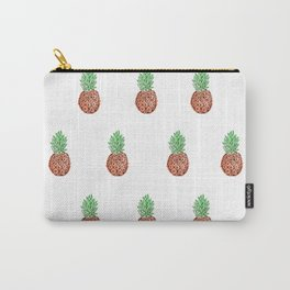 Pineapple Love - White Carry-All Pouch