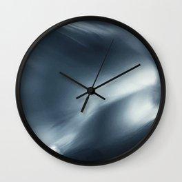 Monochromatic Ink Flow Wall Clock