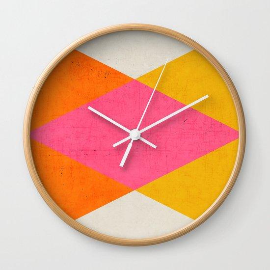 summer triangles Wall Clock