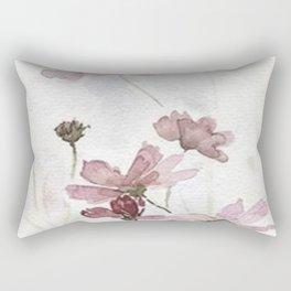 FLOWERS PAINTING-VINTAGE Rectangular Pillow