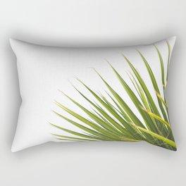 Tropical Palm Green Plant Leaf Minimalist Modern Photo Rectangular Pillow