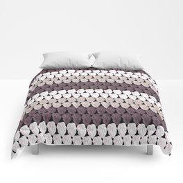Purple Crochet Knit Criss Cross Pattern Comforters