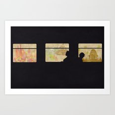 Travelling without moving Art Print