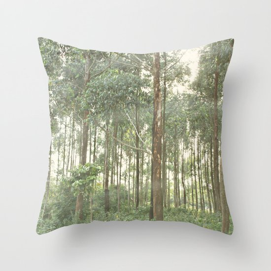 between the lines::uganda Throw Pillow