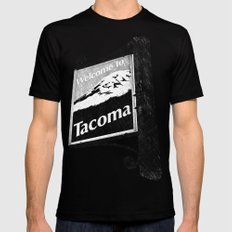 Welcome to Tacoma MEDIUM Mens Fitted Tee Black