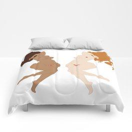 Digita illustration drawing girl power body positive Comforters