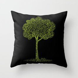 Nature Tree Drawing Throw Pillow