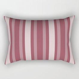 Dark Rose Victorian Lady Stripe Rectangular Pillow