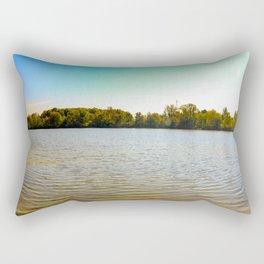 Panorama of an Ontario Forest during fall season Rectangular Pillow