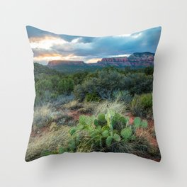 Southwest Serenade - Sunset at Sedona Arizona Throw Pillow