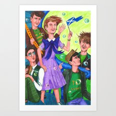 Life in the Cartoon World Was Pretty Easy at the Time Art Print