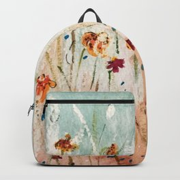 Tiger Lilies, Coneflowers, & Those Blue Things Backpack