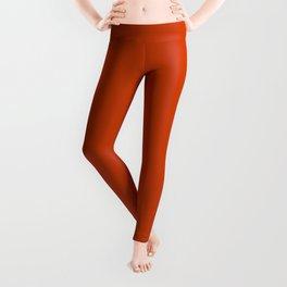 Rusty Burnt Orange Solid Rich Rust Colour Leggings