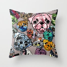 Meteor Dogs Throw Pillow