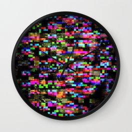 Glitch Girl Wall Clock
