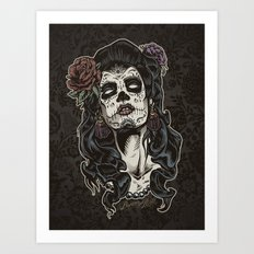 Day of The Dead Woman Art Print