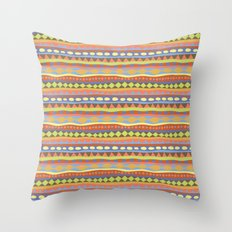 Stripey-Happy Colors Throw Pillow