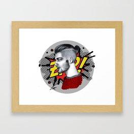 Zayn malik artwork Framed Art Print
