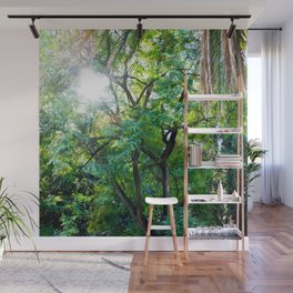 The enchanted woods   Bright tropical forest palm tree exotic green photography Wall Mural