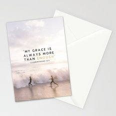 MORE THAN ENOUGH GRACE Stationery Cards