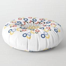 Mondriaan Mandala Floor Pillow