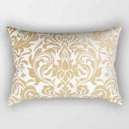 Gold foil swirls damask #12 Rectangular Pillow