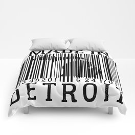 MADE IN DETROIT Bar Code Comforters
