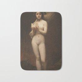 Pandora by Jules Joseph Lefebvre Bath Mat