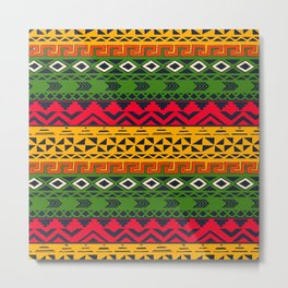African pattern No3 Metal Print