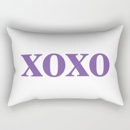 Purple XOXO Rectangular Pillow