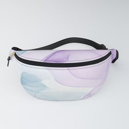 Purple Blush and Blue Flowing Abstract Painting Fanny Pack