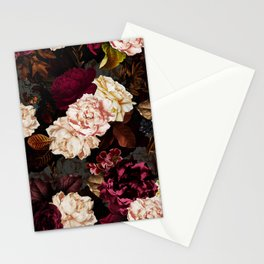 Vintage & Shabby Chic - Midnight Rose and Peony Garden Stationery Cards