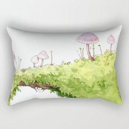 Mushrooms and Moss Rectangular Pillow
