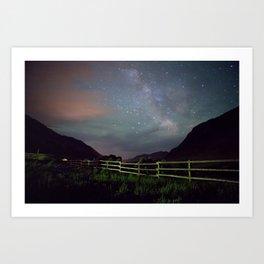 Wyoming Stars Art Print