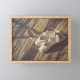 Ballet dance shoes Framed Mini Art Print