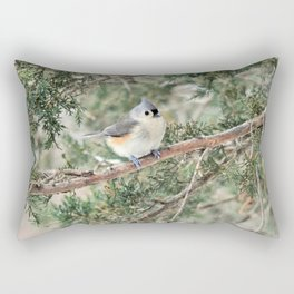 Tiny Titmouse Rectangular Pillow