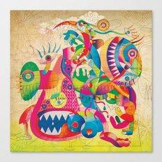 Le Dejeuner sur l'herbe in Interzone Canvas Print