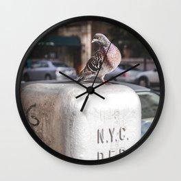 NYC Pigeon Wall Clock