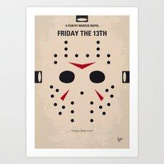No449 My Friday the 13th minimal movie poster Art Print