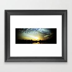 egipt sunset Framed Art Print