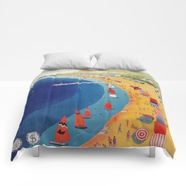 Cattolica 1920s Italy travel Comforters
