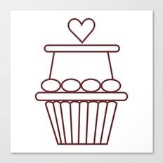 Cupcake Heart Canvas Print