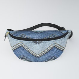 Stitched Denim Fanny Pack