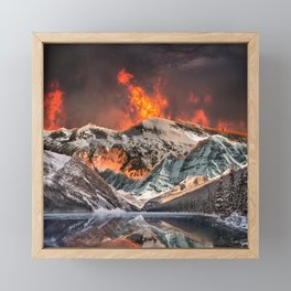 Fire and Ice Framed Mini Art Print