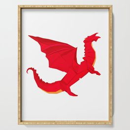 Origami Red Dragon Serving Tray