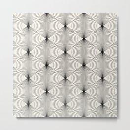 Geometric Orb Pattern - Black Metal Print