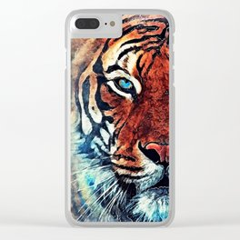 Tiger spirit Clear iPhone Case