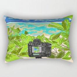 Beach photo shoot Rectangular Pillow